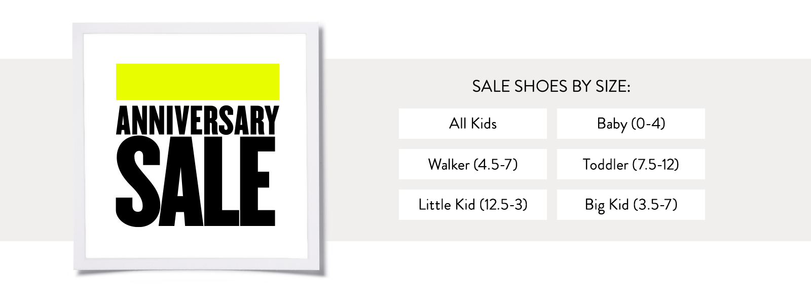 Sale Shoes by Size.