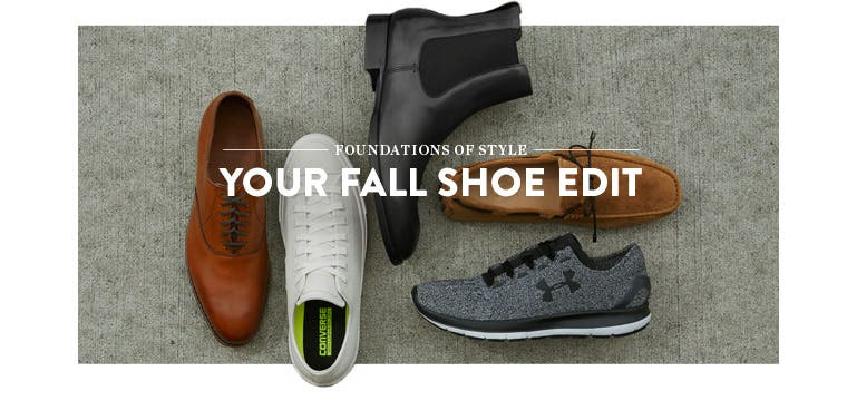 Foundations of style: your fall men's shoe edit.