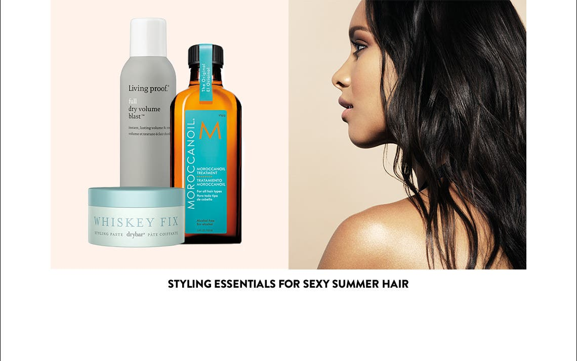 Styling essentials for sexy summer hair.