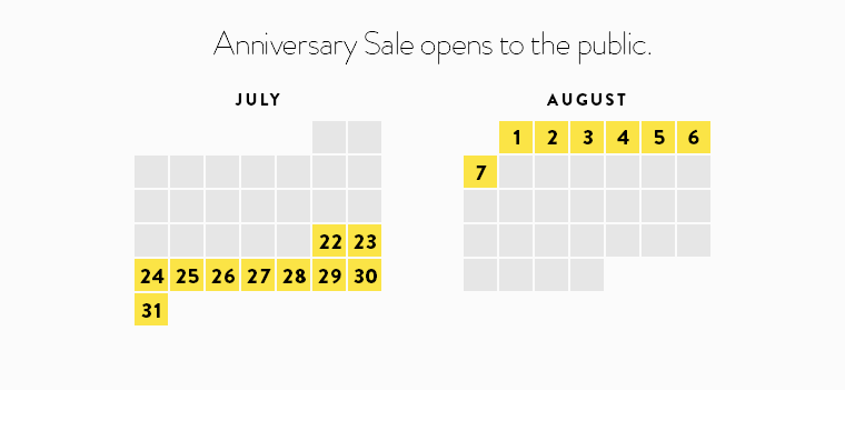Anniversary Sale opens to the public