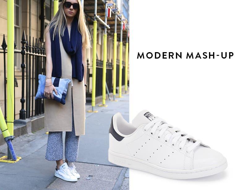 Modern mash-up: adidas 'stan smith'.