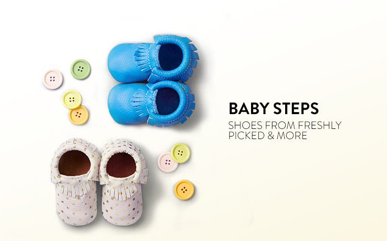 Baby steps: shoes from Freshly Picked and more.