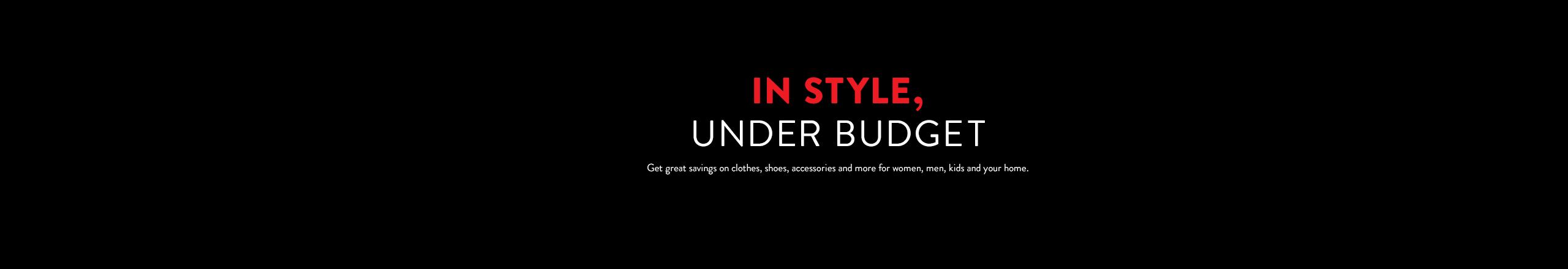 On trend, under budget.
