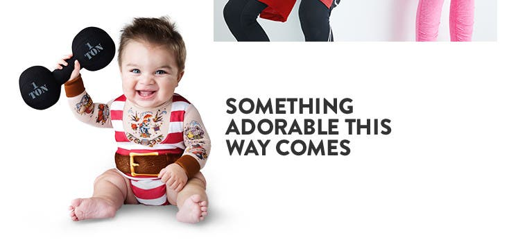 Halloween costumes for baby and kids.