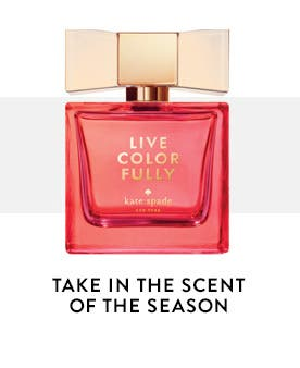 Take in the scent of the season. Fragrance and beauty from kate spade new york.