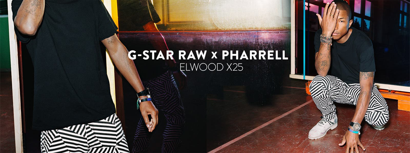 G-Star Raw and Pharrell: the Elwood X25 pant, reinvented.