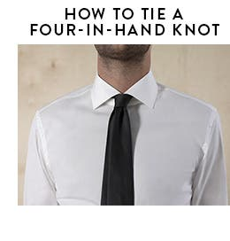Play video about how to tie a four-in-hand knot.