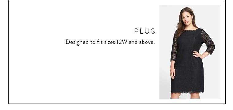 Body type: plus. Designed to fit sizes 12W and above.