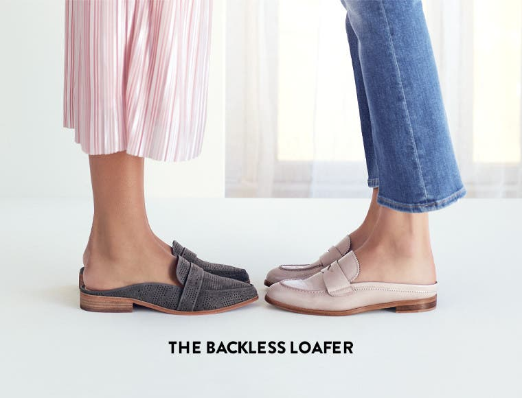 The backless loafer.