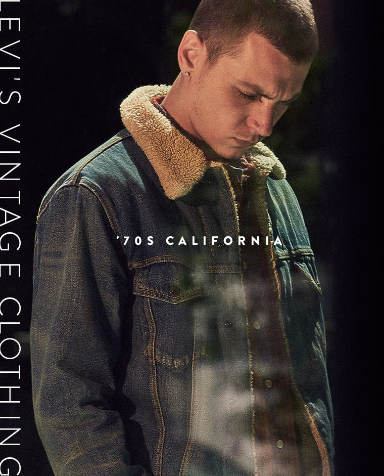 The '70s California trend for men from Levi's Vintage Clothing.