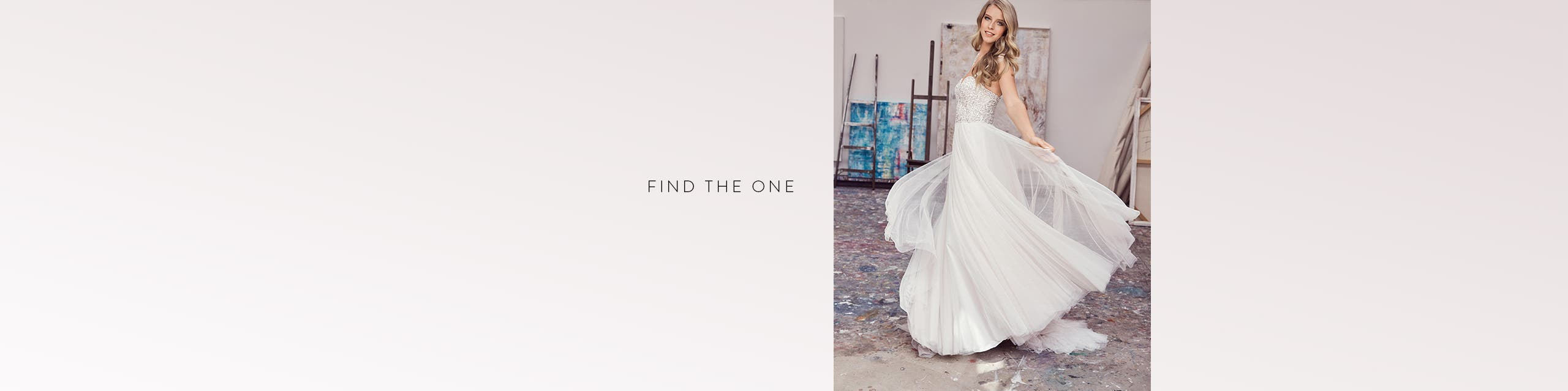 Find the one: wedding dresses.