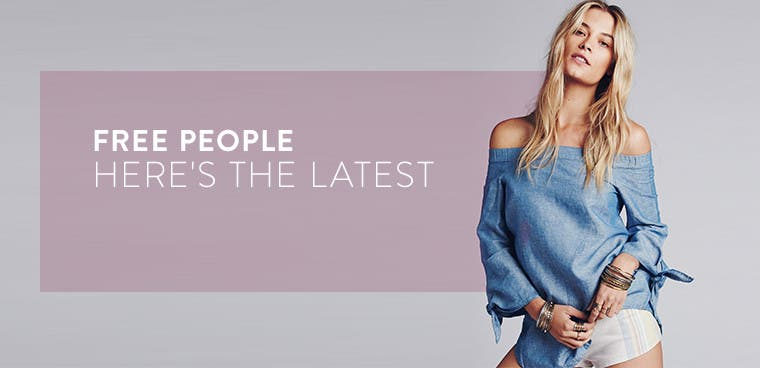 Free People: the latest women's clothing arrivals.