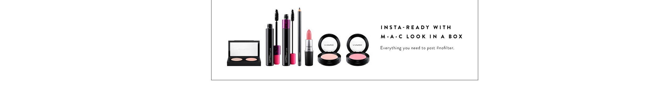 M·A·C Look in a Box makeup.