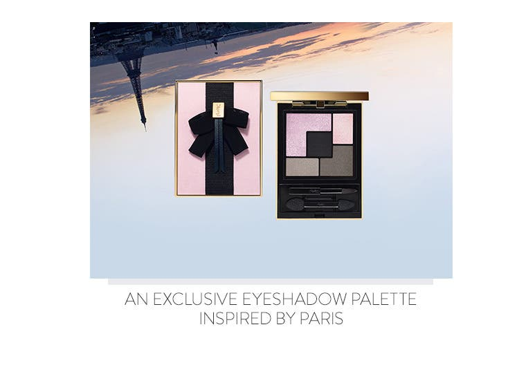 An exclusive eyeshadow palette inspired by Paris.