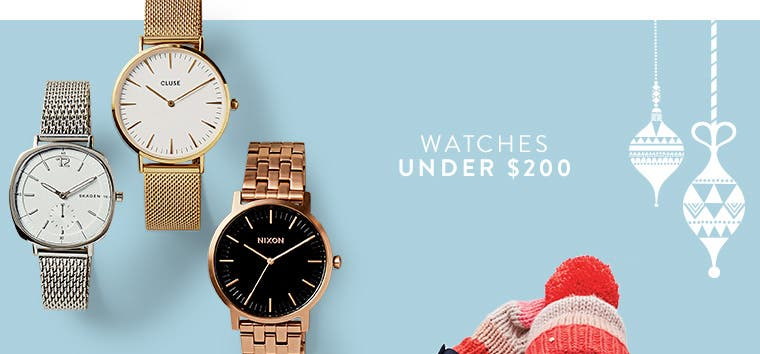 Watches under $200.