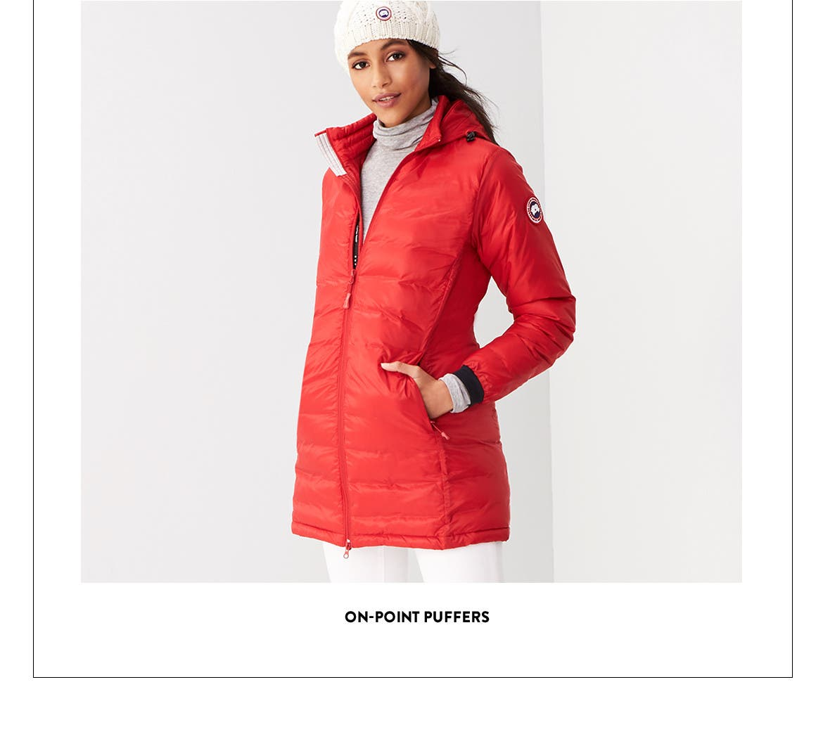 On-point puffer jackets.