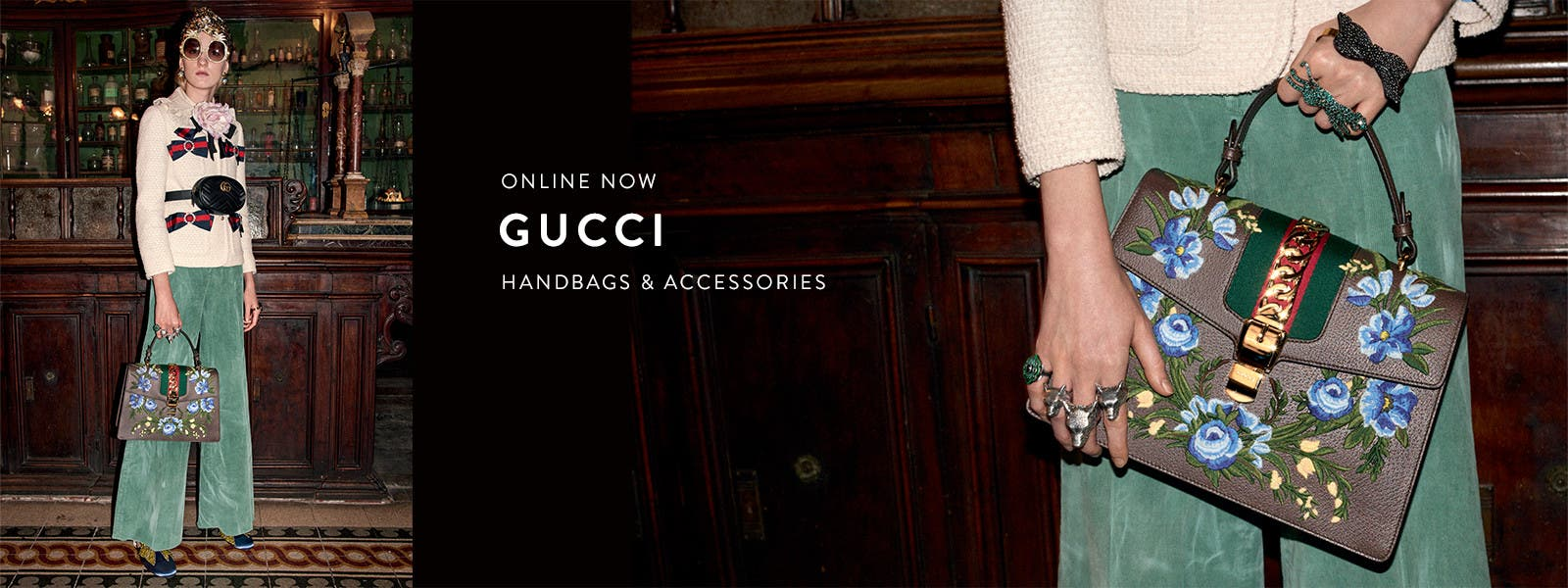 Online now: shop Gucci handbags, jewelry, watches, scarves and belts.