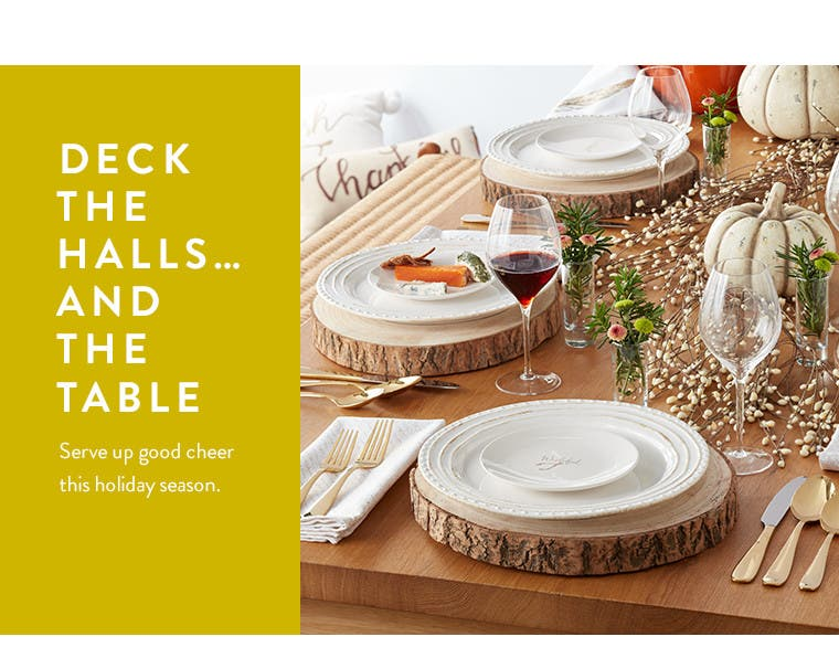 Deck the halls…and the table.