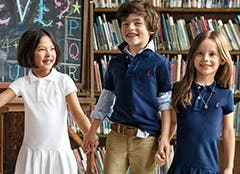 Ralph Lauren clothing and shoes for kids and babies.