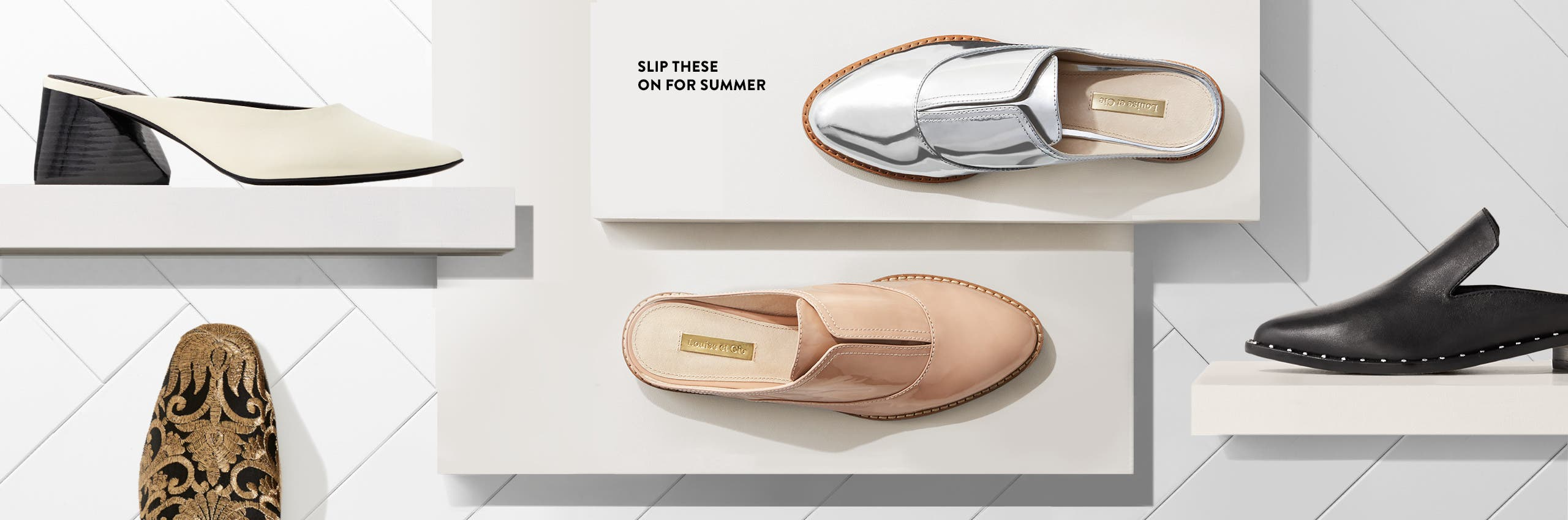 Standout mules for summer.