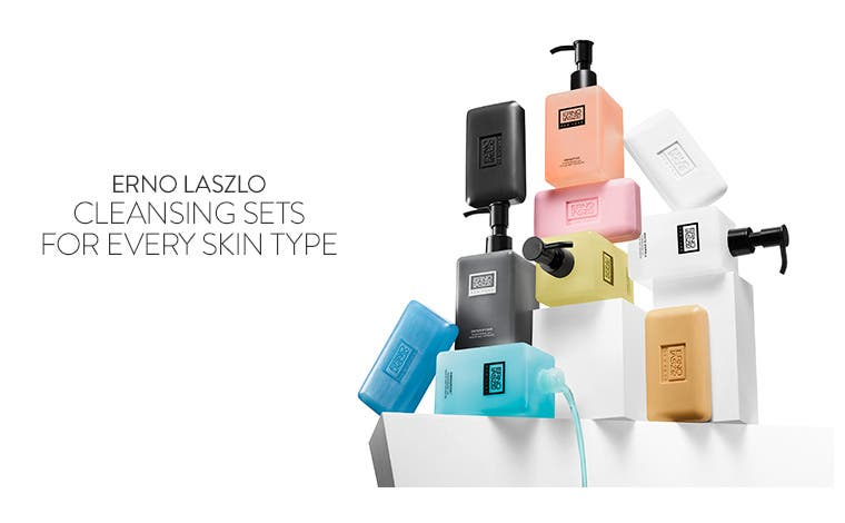 Cleansing sets for every skin type from Erno Laszlo.