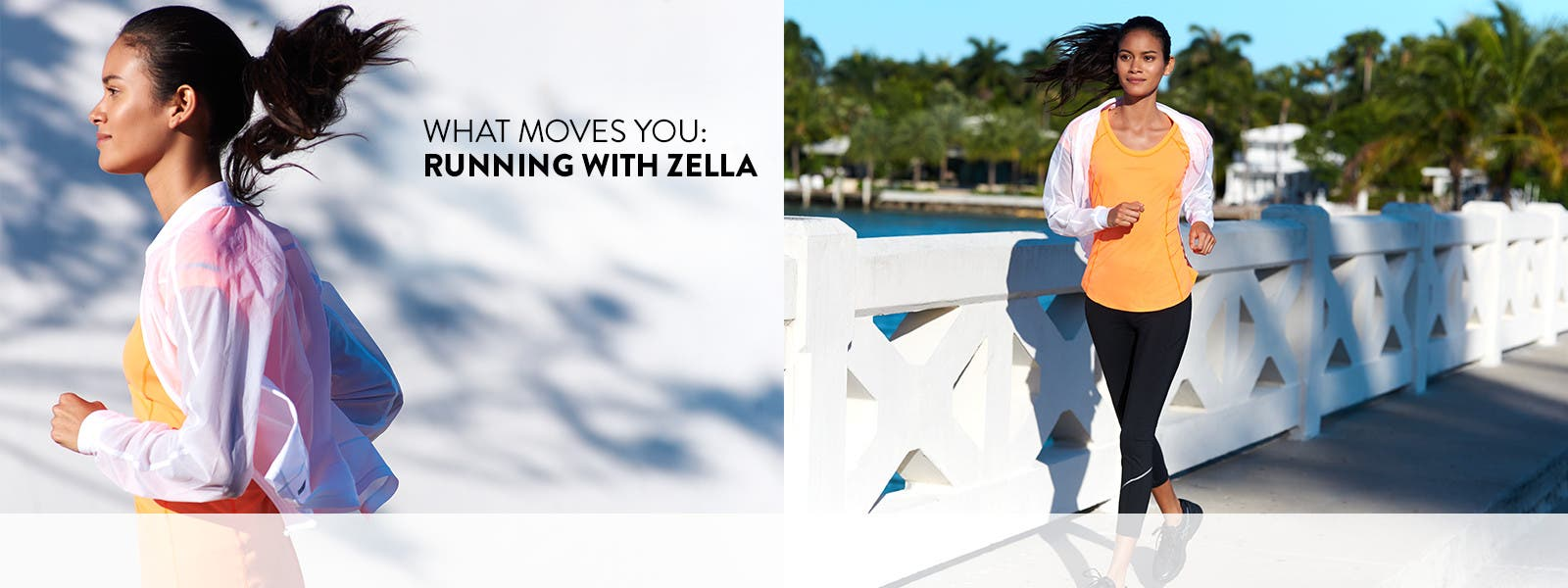 What moves you: Zella running activewear.