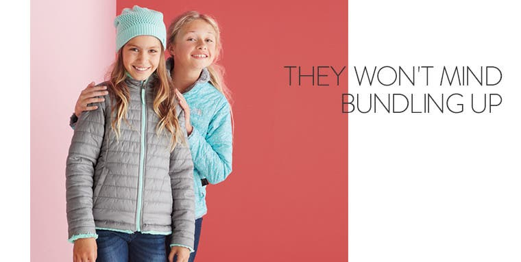 They won't mind bundling up: The North Face kids' clothing.