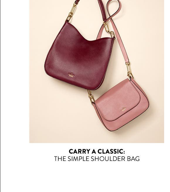The simple shoulder bag.