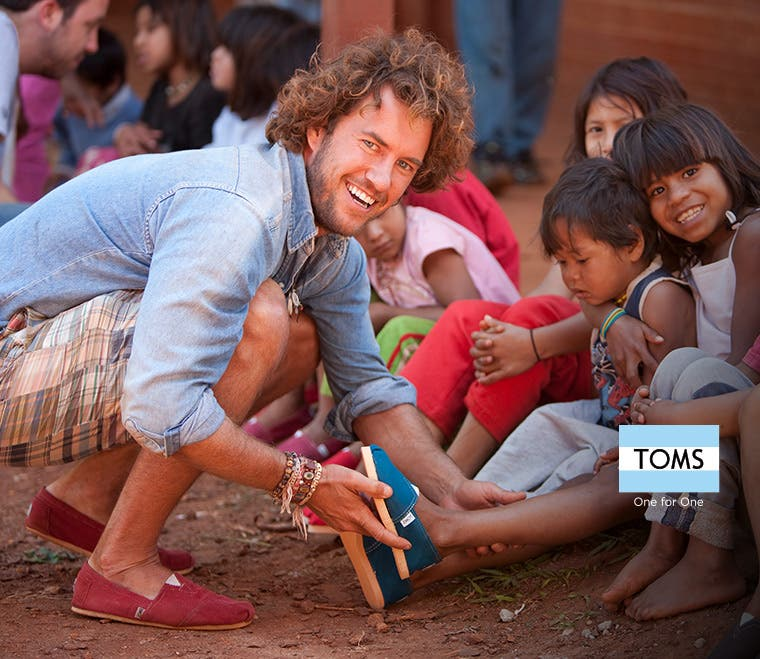 TOMS shoes for women, men and kids.
