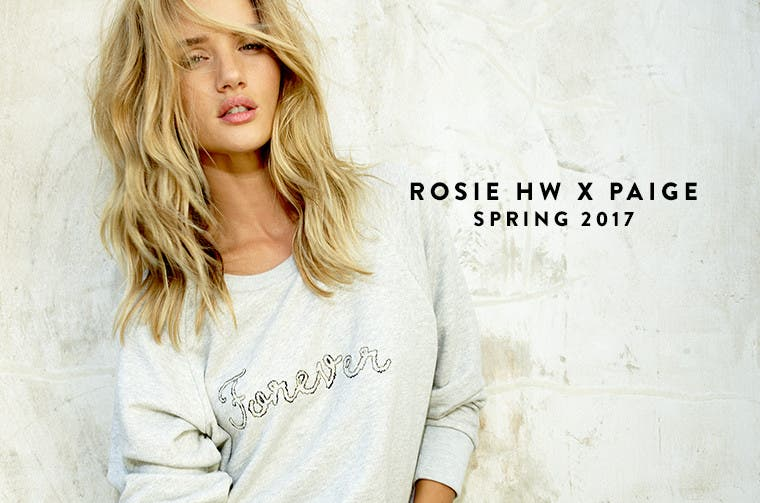Exclusive launch: Rosie Huntington-Whiteley x PAIGE denim capsule collection.