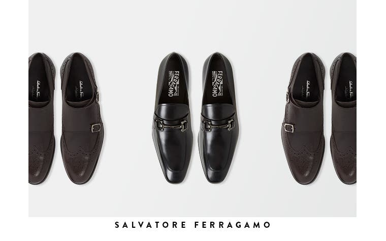 Men's designer shoes from Salvatore Ferragamo and more.