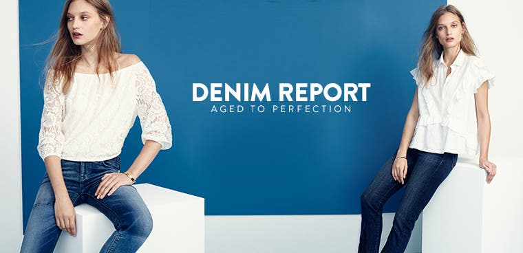 Denim report: aged to perfection.