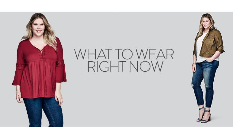 Plus-size clothing to wear right now.