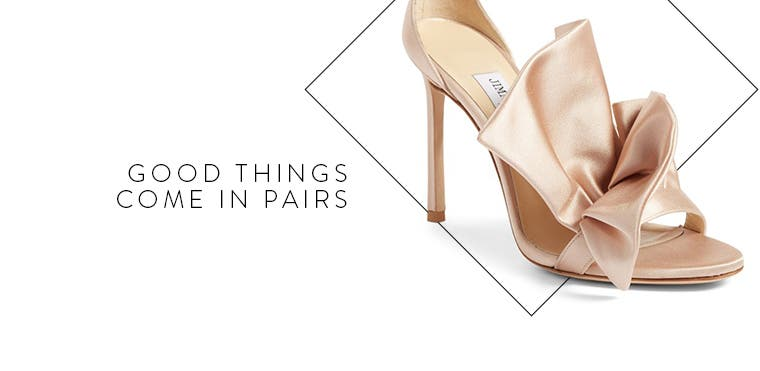 Good things come in pairs: wedding-day shoes.