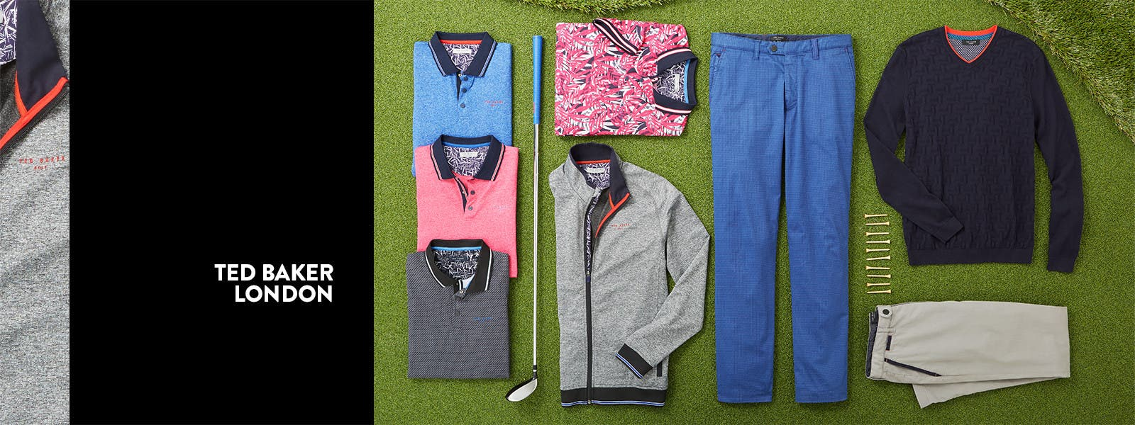 Ted Baker London golf apparel.