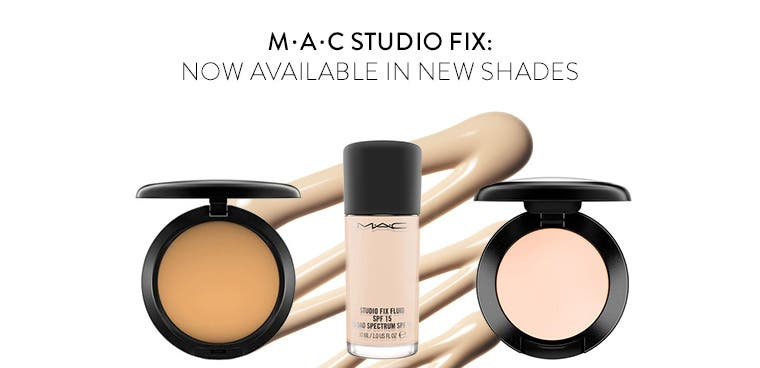 MAC face makeup in new shades.