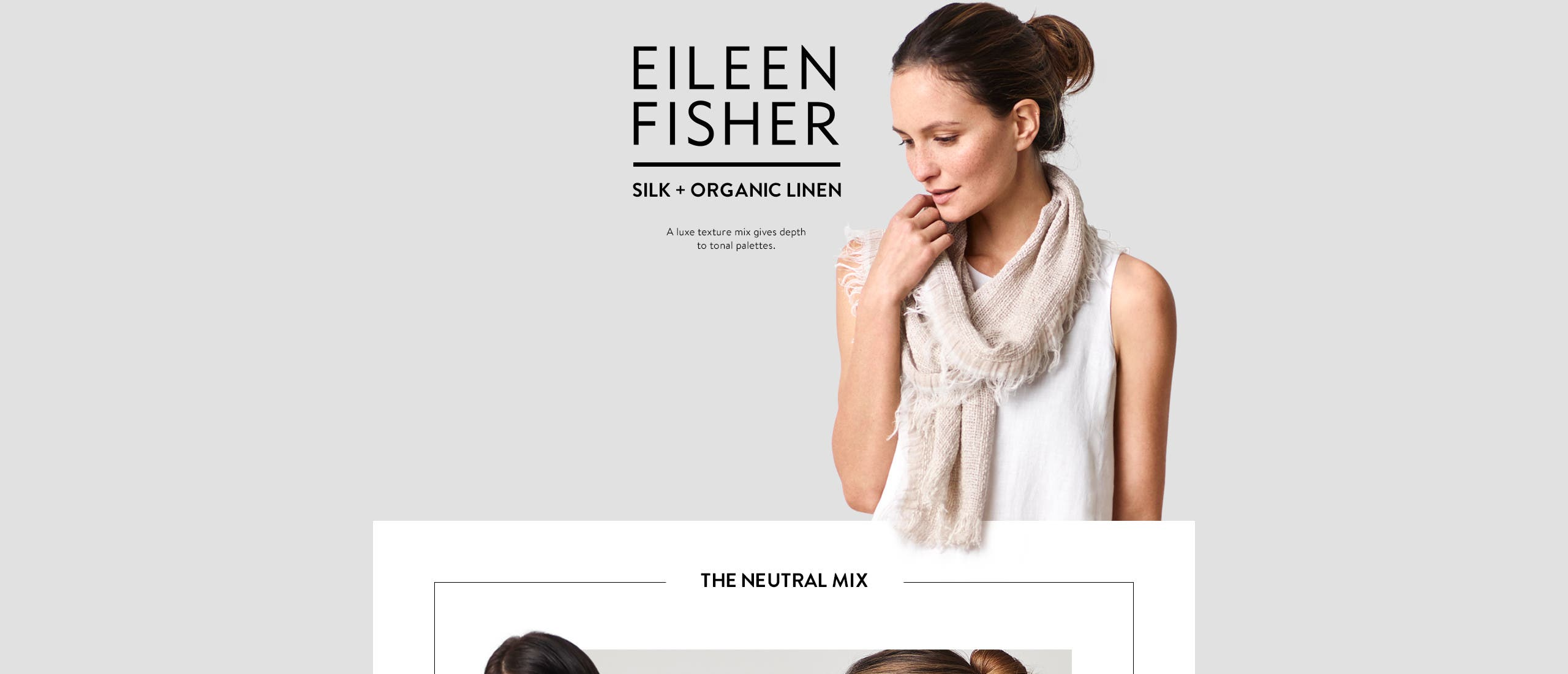 Eileen Fisher: linen and silk.