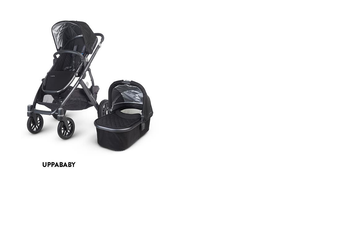 UPPAbaby strollers and other baby gear.