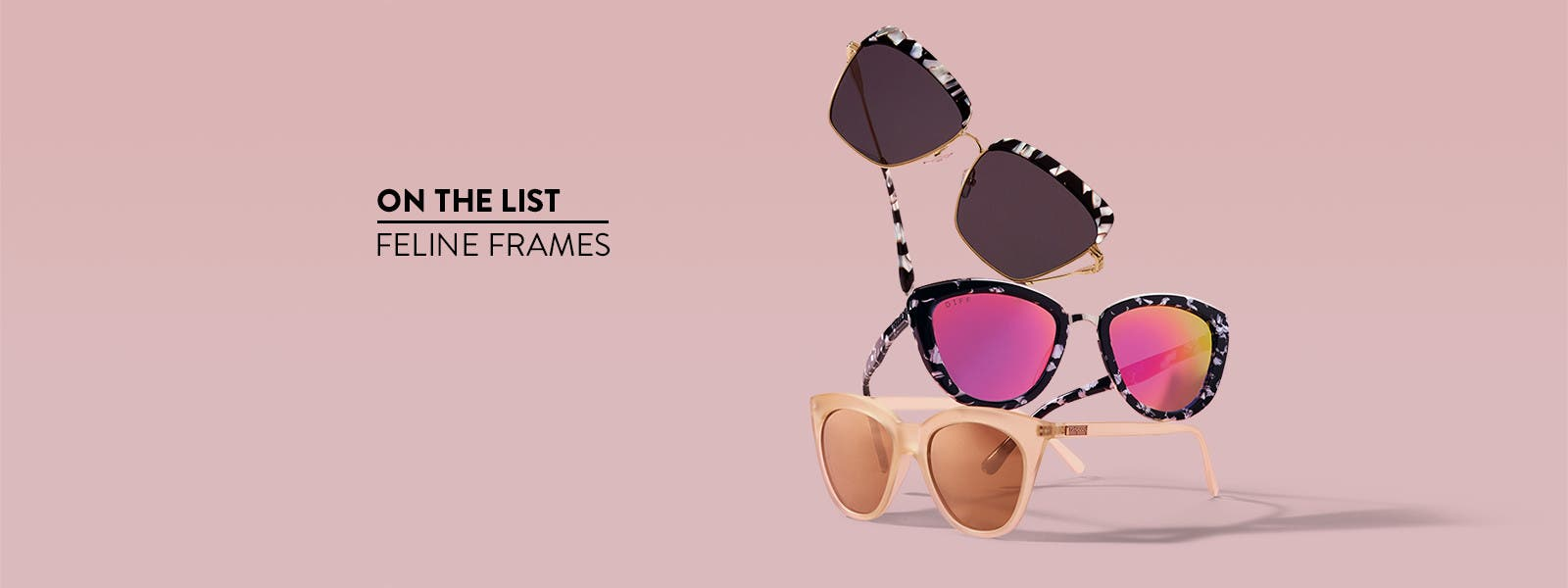 Feline frames: cat-eye sunglasses.
