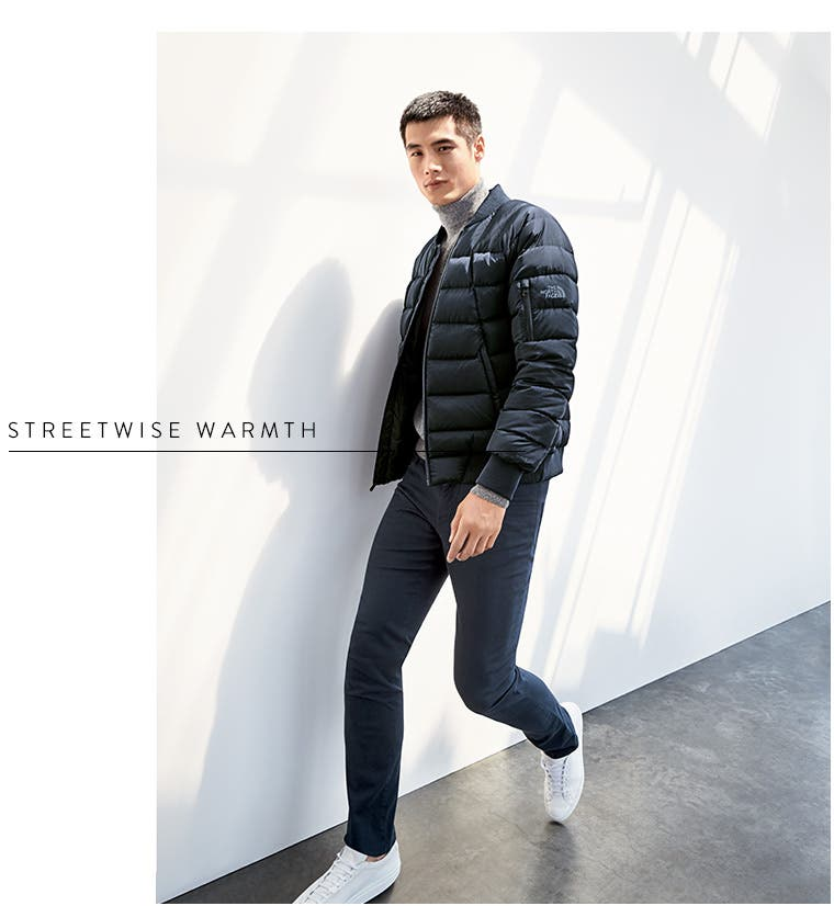 Streetwise warmth: men's jackets.