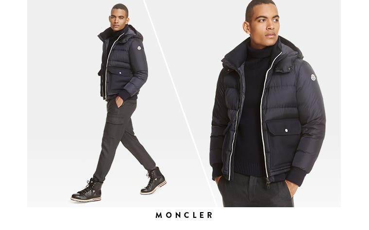 Moncler jackets and more men's designer clothing.