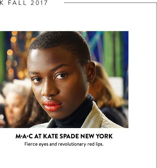 New York Fashion Week backstage beauty: MAC at kate spade new york.