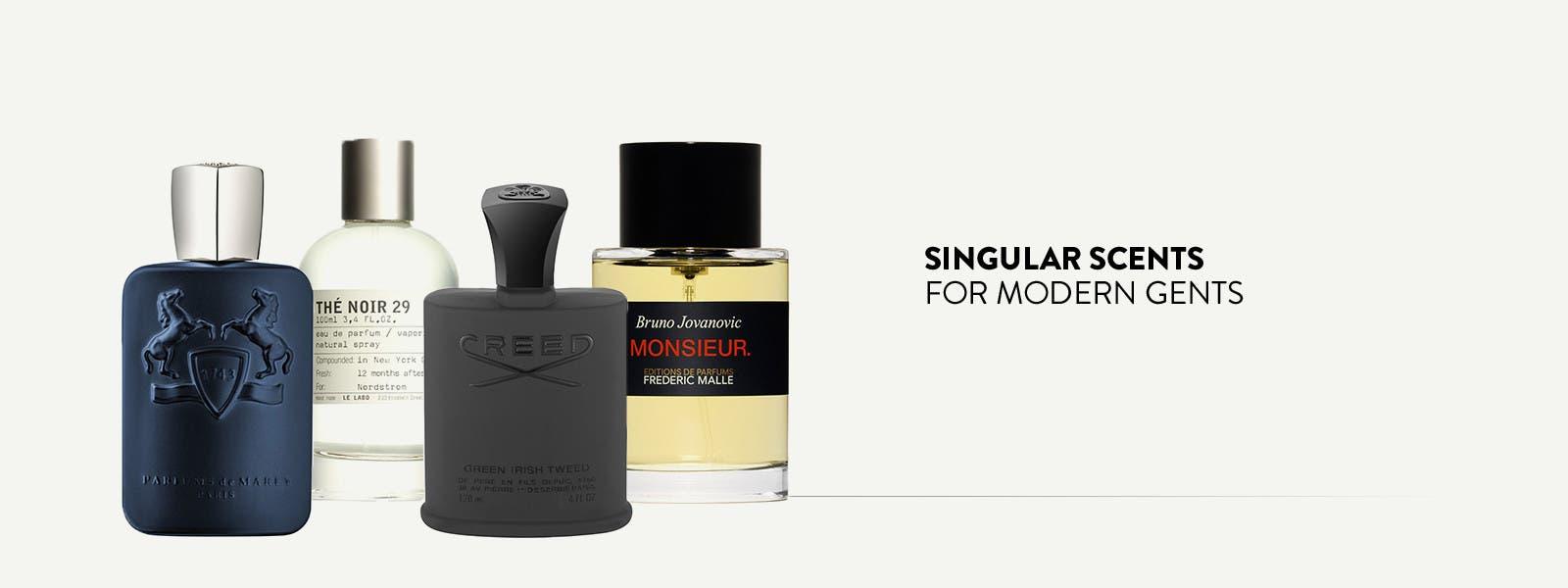 Singular scents for modern gents.
