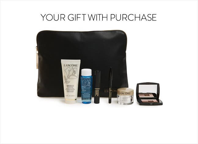 Your Lancôme gift with purchase.