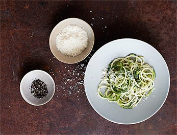 Food, fast: zucchini cacio e pepe recipe