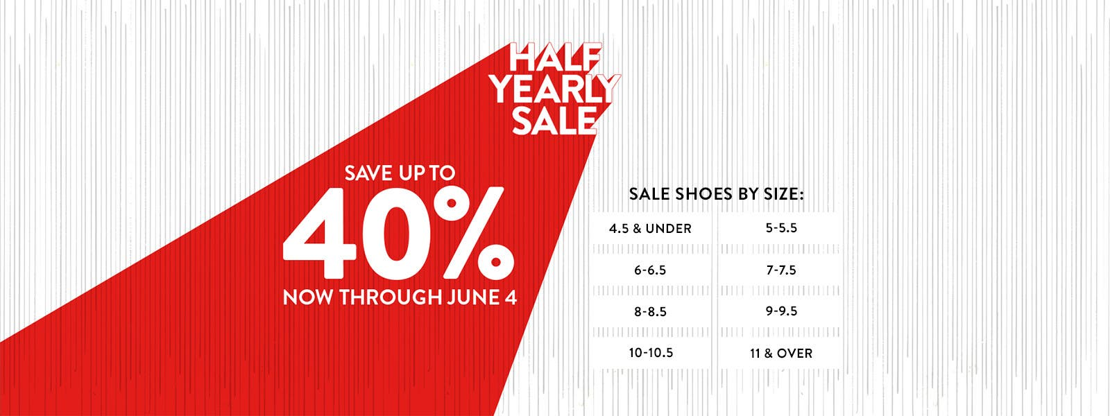 Half-Yearly Sale. Save up to 40% through June 4. Shop women's sale shoes by size.