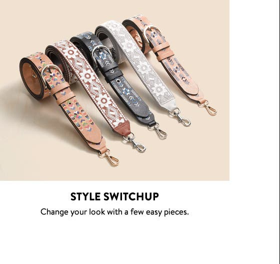 Style switchup: handbag accessories.