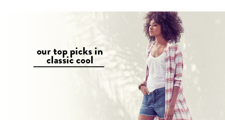 Our top picks in classic cool: casual essentials for women.