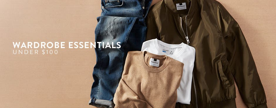 Wardrobe essentials under $100.