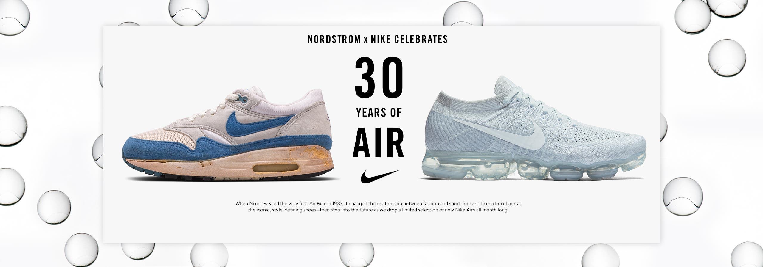 Nordstrom x Nike Air Max: 30th anniversary shop-in-shop.